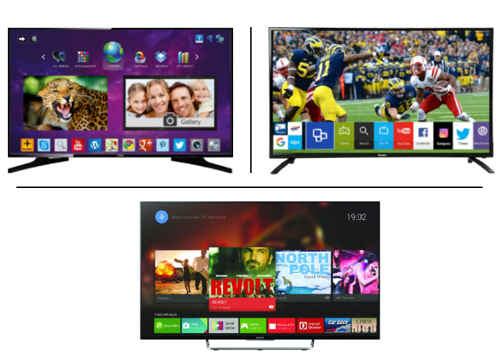 Create a Shortlist of 3 Smart TVs